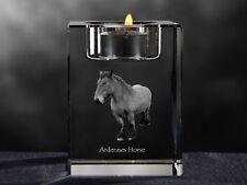 Ardenner, Kristall-Kerzenleuchter mit Pferd, Crystal Animals DE