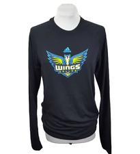 Tshirt Womens Shirt Size M Dallas Wings Adidas Wnba Black Long Sleeve