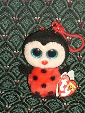 "Ty Beanie Boo 3"" clip BUGSY (Ladybug) MWMT red * GLITTER EYES * RARE * Retired"