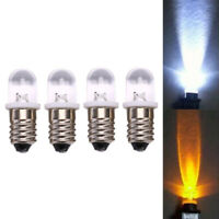 5Pcs E10 Led Bulb Dc 3V 4.5V Instrument Bulb Indicator Bulb Flashlight Bulb ++