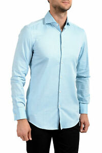 "Hugo Boss Men's ""Jason"" Slim Fit Striped Long Sleeve Dress Shirt US 14.5 IT 37"