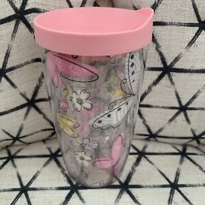 Tervis Pink Butterflies Medium Size