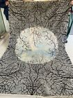 6x9 Unique Handmade Moon Design tribal high quality Turkoman wool & Silk Mix rug