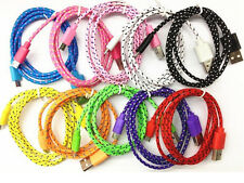 1M Nylon Braided Wire Micro USB Cable 5pin V8 Charger Cords for Samsung HTC HW