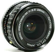 SMC PENTAX-M F3.5 28mm Lens PK Mount UK Fast post