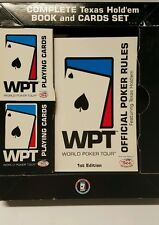 Texas hold'em book card set world Poker tour. Rule book.