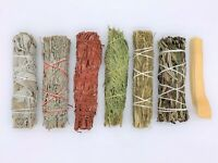 7X Sage Smudge Stick Kit: White, Blue, Dragons Blood, Cedar, Desert, Yerba, Palo