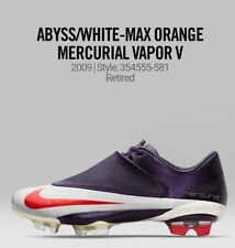 SOLD OUT MADE IN ITALY NIKE MERCURIAL VAPOR V FG (ABYSS/MAX ORANGE WHITE)RARE!!!