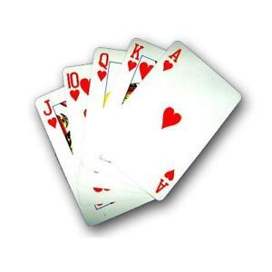 2x Gezinkte Pokerkarten Deck   Trick Karten   Zauberkarten   Folienbeschichtet