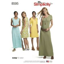 Simplicity Sewing Pattern 8595 Women's Knit Mini & Maxi Dresses Easy to Sew