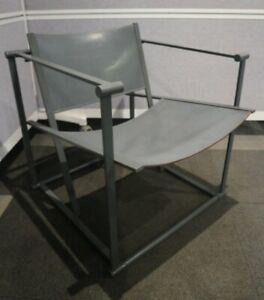 FM62 Cubic Grey Leather Lounge Chair by Radboud Van Beekum For Pastoe