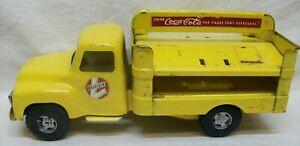 "Original Vintage ""Buddy L"" Coca-Cola Deliver Truck (Pressed Steel) w/Old Logo"