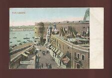 Malta military FORT LASCARIS c1900/10s? PPC