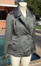 Burberry Jacket Coat Green Grey Turquoise Down Puffer Bottons Winter XS