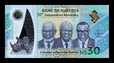 B-D-M Namibia 30 Dollars Commemorative 2020 Pick New Polymer SC UNC