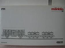 MÄRKLIN 48691  Set Eichwagen RAG Epoche IV MHI NEU
