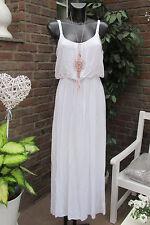 Nuevo Italy verano Maxi vestido hippie vestido vintage blanco oversize Ibiza 36 38 40