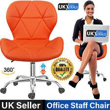 Office Chair Swivel PU Leather Cushioned Computer Desk Chair Studio Salon Barber