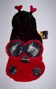 NWT Plush Ladybug Costume for Pets Size Large Halloween Dog