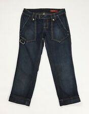Miss sixty w27 tg 41 jeans bermuda donna usato pantalone corto blu shorts T831