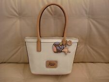 NEW WT Handbag GUESS PURSE Airun Satchel Bag White beige peach women's tote