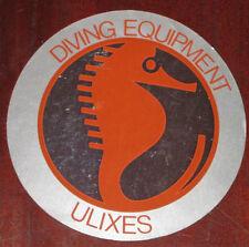 "Adesivi Anni ' 80 "" DIVING EQUIPMENT ULIXES """