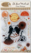 Clear rubber stamp set Daisy & Dandelion The secret woodlands Pumpkin the badger