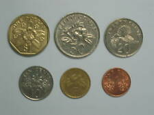 SINGAPORE 6 different COINS