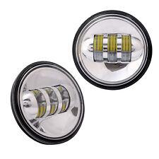 """Enrock LED CREE IP67 Waterproof  4.5"""" Harley Davidson 30 Watt Fog Lamps (Silver)"""
