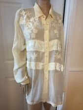 PHOOL BEAUTIFUL PALE YELLOW LOOSE FIT TOP SZ 12 NWT