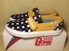 VANS SLIP-ON 47 V DAVID BOWIE HUNKY DORY TRAINERS Men's Size 9.5uk Check Rare