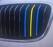 Performance Streifen Sticker Aufkleber BMW Niere Grill Schweden Flagge Fussball