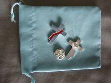 Silver plated lapel pin deacon's cross