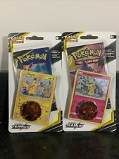 2 Pokemon TCG Sun & Moon Team Up Blister Packs With Pikachu & Mimikyu Promo Card