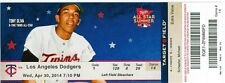 2014 Twins vs Dodgers Ticket: Dodgers beat Twins for 10,000th franchise win