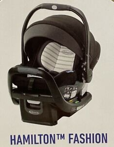 Graco SnugRide SnugFit 35 DLX Infant Car Seat Child Safety Hamilton Black/White