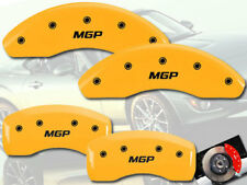 2012-2015 Fiat 500 Abarth Front + Rear Yellow MGP Brake Disc Caliper Covers 4pc