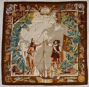 Hermes Le Canada Silk Scarf