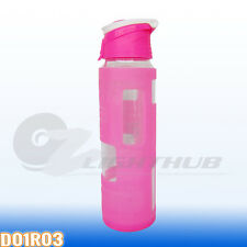 700ml Glass Water Bottle Sport Outdoor Silicone Sleeve Hydration cup BPA Free