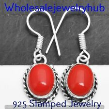 Coral Earring 925 Sterling Silver Plated Earring Jewelry SME-01-180