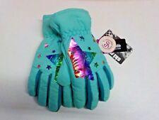Girls Size M/L So Brand Mint/Multicolor Star Print Ski Gloves Nwt #10698