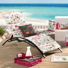Coussin Matelassé pour Bain de soleil, Ibiza Tropical, 60x180cm, 100% Coton