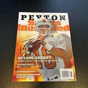 Peyton Manning Signed Sports Illustrated Magazine Retirement Issue Fanatics Holo