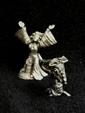 Vintage Spoontiques Pewter Sorceress And A Goat Skull Spellbook