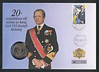 Numisbrief Schweden König Carl Gustav 1 Krona 1991 Stempel 1993 Nr. 113 NB-A5/13