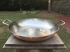 L.Lecellier Copper 28 cm Villedieu Gratin Paella Pot Pan Stainless Lined 2.2mm
