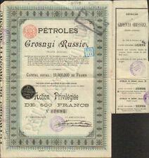 PÉTROLES de GROSNYI 10M (RUSSIE - TCHÉTCHÉNIE) (D)