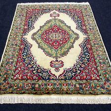 Orient Teppich Uschak 189 x 128 cm Alt Beige Old Turkish Ushak Carpet Rug Tapis