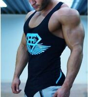Men's BE Wings Gym Muscle Tank Tops Bodybuilding Stringer Shirt Sport Fitness