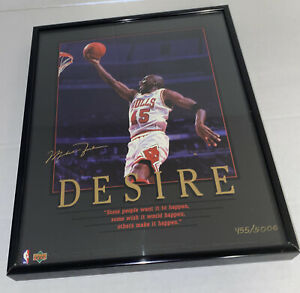 Vintage 1995 Upper Deck Michael Jordan Desire Framed 8x10 Poster #455/5000
